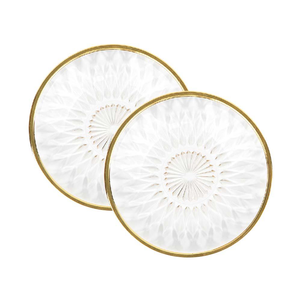 부라노 리얼골드 15cm 크리스탈 접시, 2개, 접시 2p