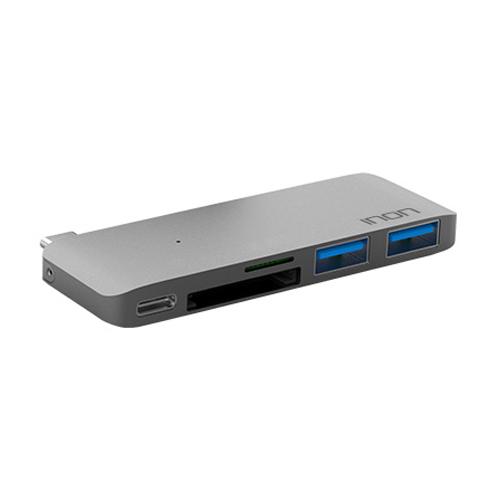 아이논 USB C타입 5 in 1 멀티허브 맥북 IN-UH410C, 그레이