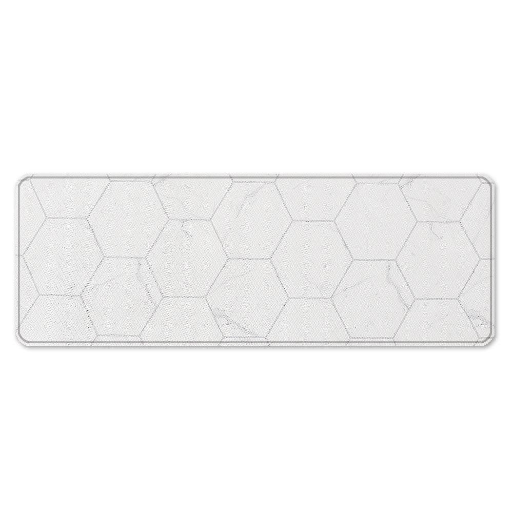 인디언 마블 양면 주방매트, 화이트(앞) + 그레이(뒤)