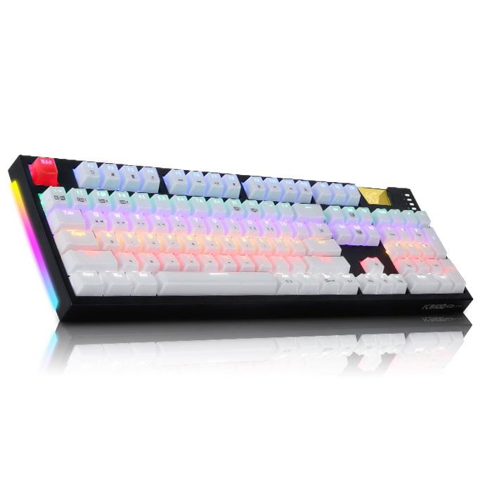 앱코 HACKER K9100 ARC 프리미엄 카일광축 완전방수 LED 게이밍 기계식 키보드, 블랙