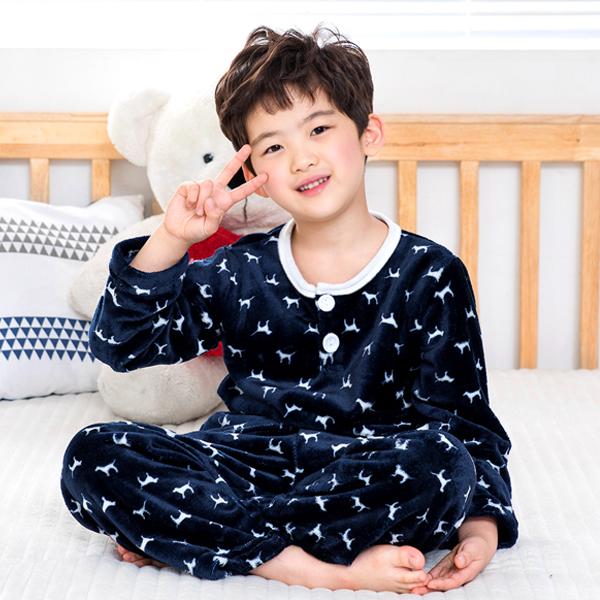 이라인 남아용 꼬마강아지 수면 잠옷