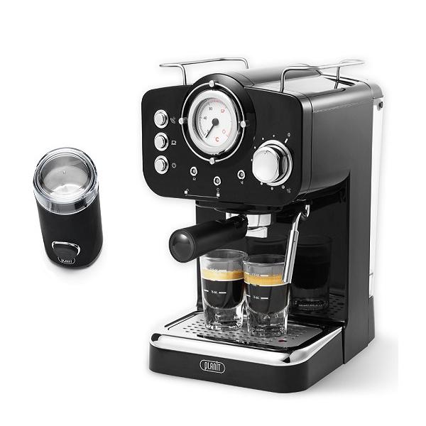플랜잇 커피머신 홈카페 에디션 + 커피그라인더, PCM-F15B(제트블랙)