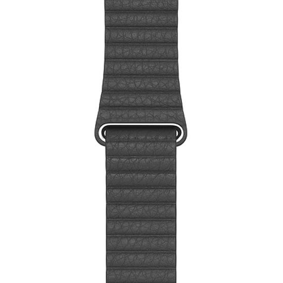 Apple 정품 애플워치 3/6/SE 가죽 루프, 42/44mm, Black