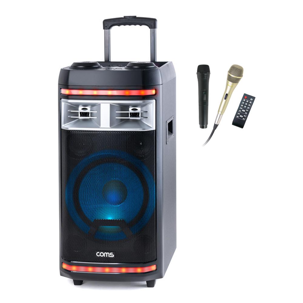 컴스 휴대용 블루투스 버스킹 앰프, CR400