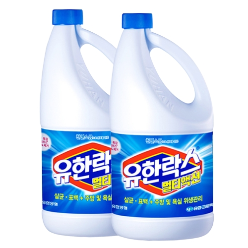 유한락스 멀티액션 레귤러, 1.8L, 2개