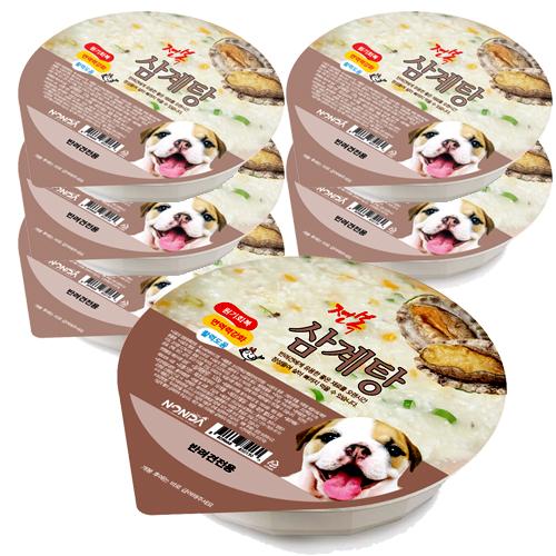논다 강아지 간식파우치, 전복삼계탕, 6개