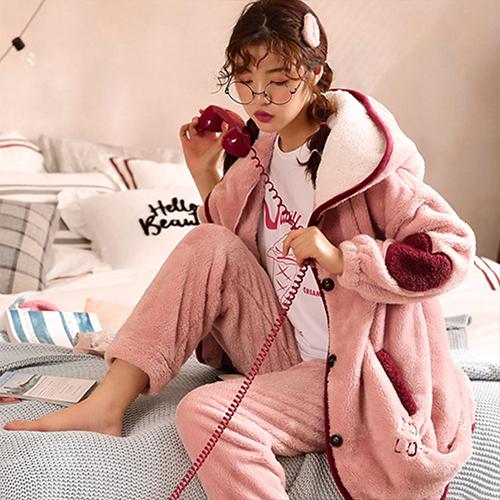 글램공감 여성용 심쿵 투피스 수면잠옷세트
