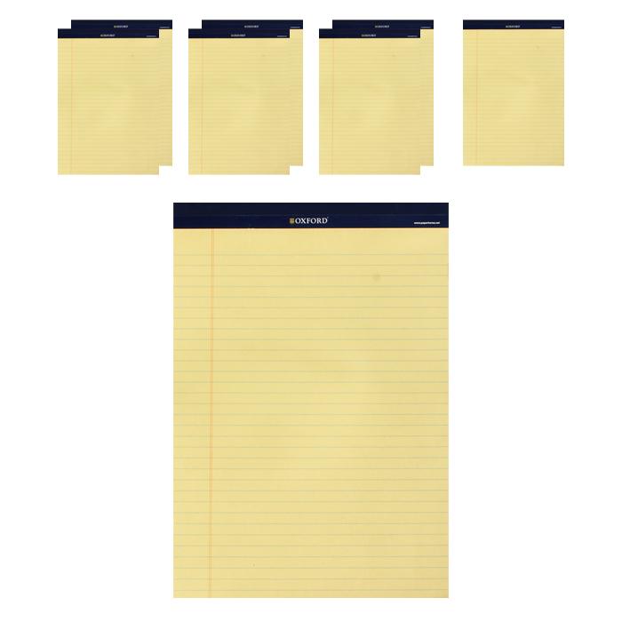 OXFORD 리갈패드 A4 60매, 노랑, 8개