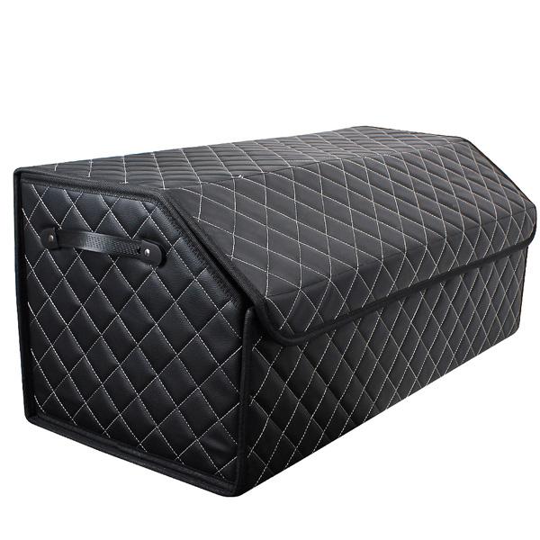 지엠지모터스 신형 퀼팅가죽 트렁크정리함 + 패드 2p, 블랙&화이트