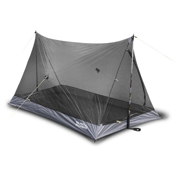 아일랜드패커스 모기장 텐트, 블랙, 2인용