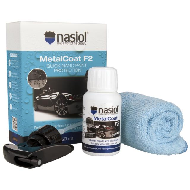 나지올 메탈코트F2 셀프 자동차 유리막코팅제 50ml + 전용타올 세트, 1세트