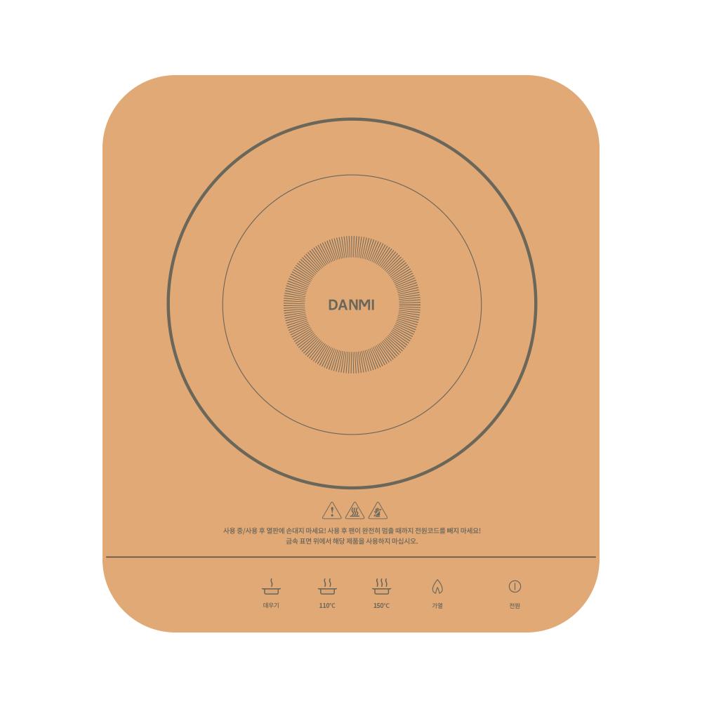 단미 미니 인덕션 IH 전기레인지 1구, DA-IN02mini(로즈골드)