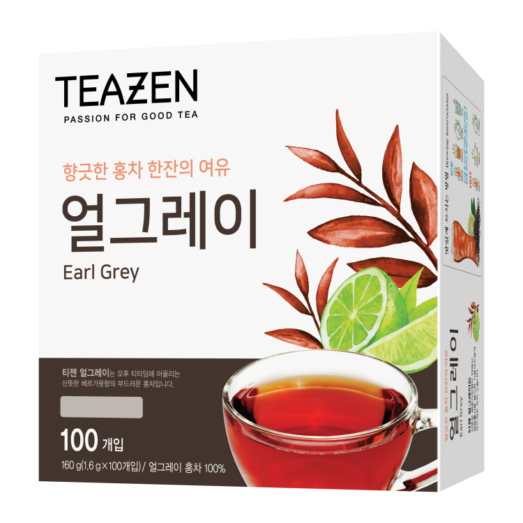 티젠 얼그레이 홍차, 1.6g, 100개