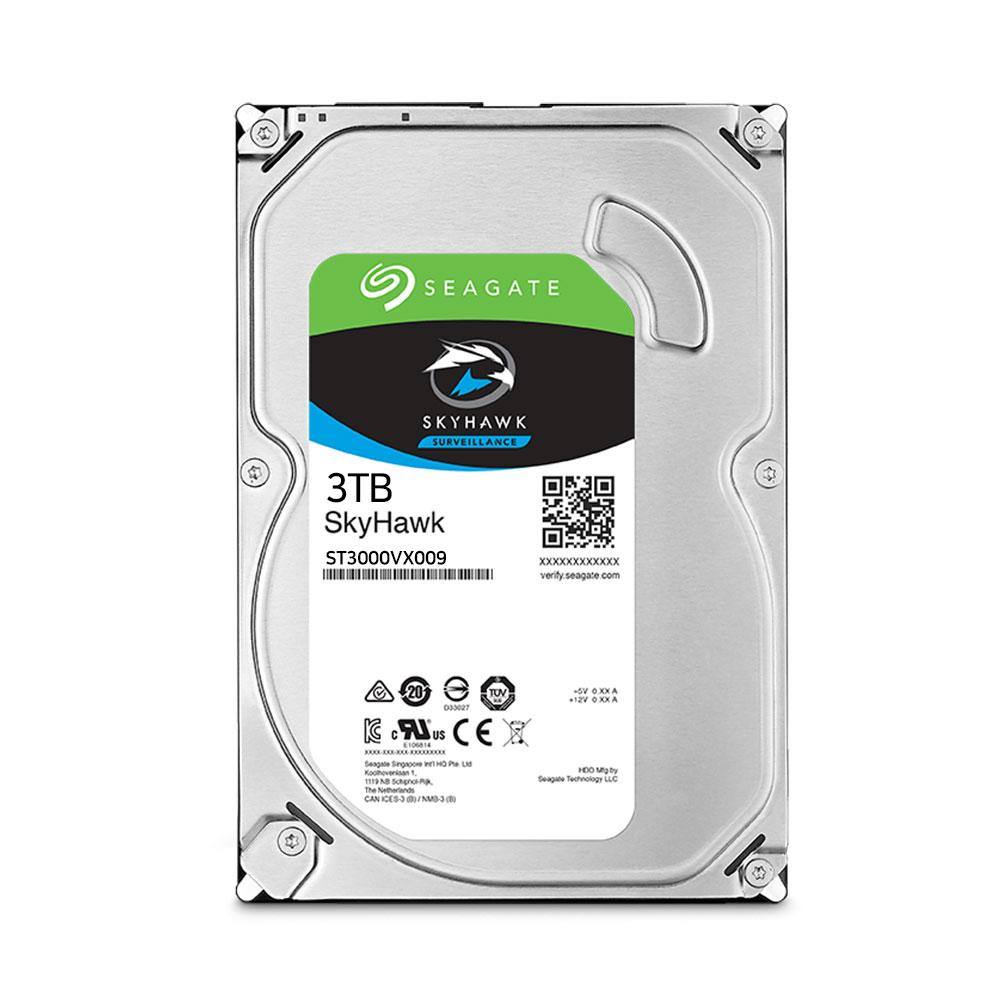 씨게이트 CCTV용 스카이호크 3.5 HDD, ST3000VX009, 3TB