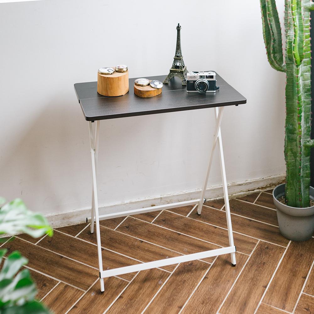 까사마루 오드리 사이드 테이블, 브라운 + 화이트