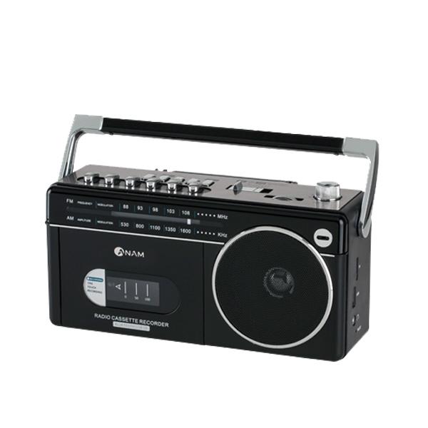 아남 블루투스 라디오 카세트 플레이어, PA-720BT, 블랙