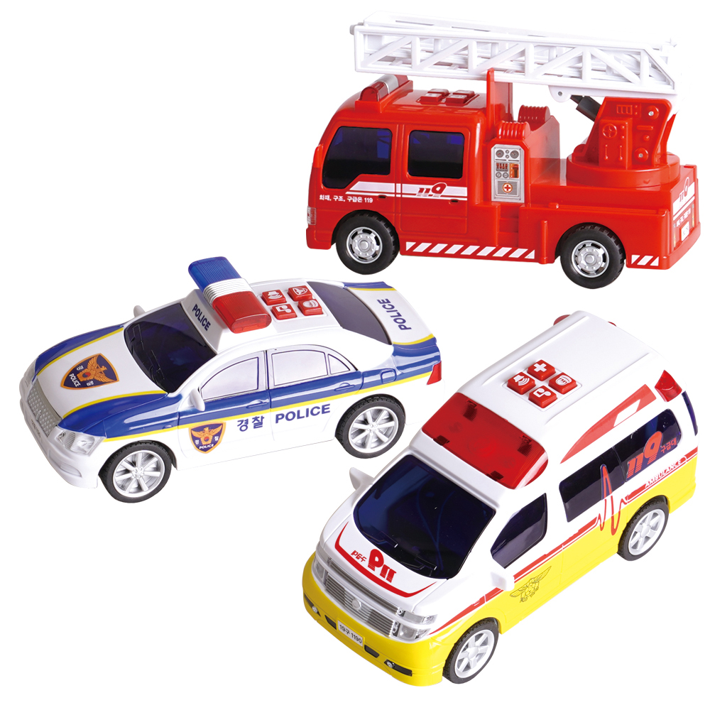 바니랜드 출동 구조대 장난감 세트, 혼합 색상