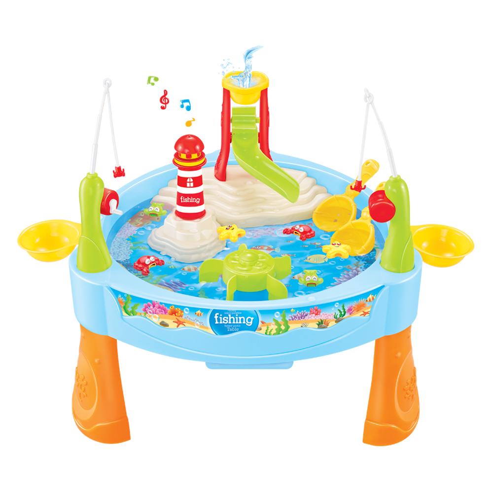 해피플레이 피싱 테이블 낚시놀이 유아 장난감, 혼합 색상