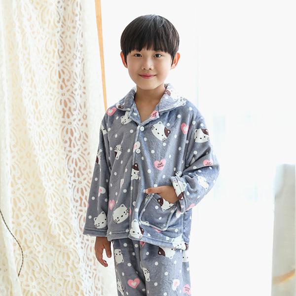 씨엘스토리 남아용 하트캣 커플 수면 잠옷세트