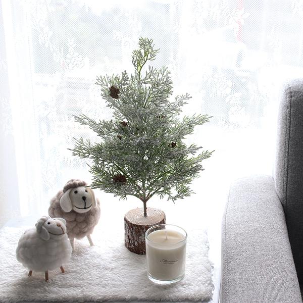 모리앤 얼음 눈꽃트리 + 양 인형 2종 + 안개등 10구 + 사각러그 세트, 혼합 색상
