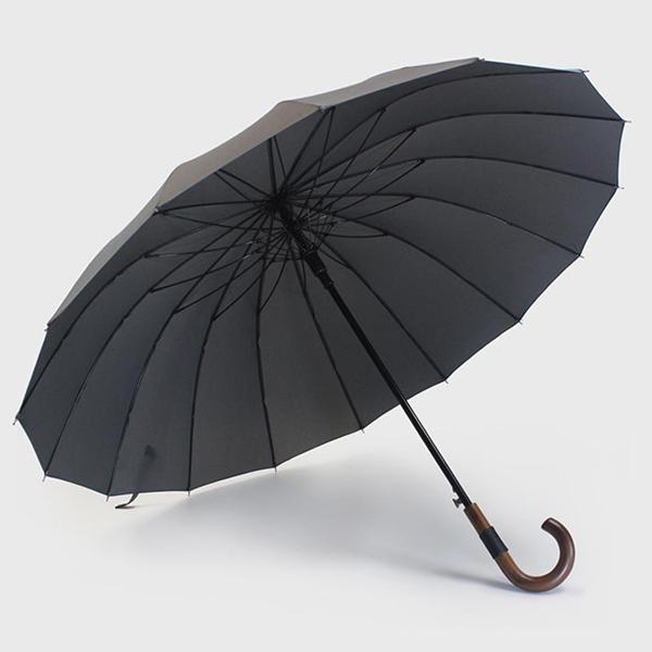 고티바쉬 가죽패치 우드핸들 대형 장우산 120cm