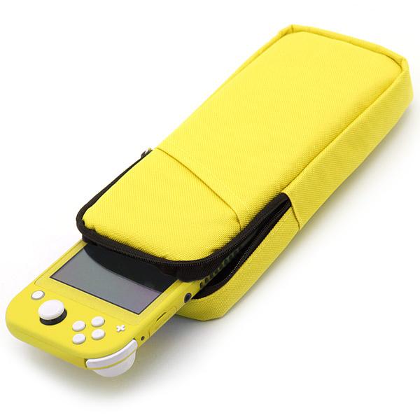 모모켓 닌텐도스위치라이트용 라이트컬러 파우치 옐로우, 단일 상품