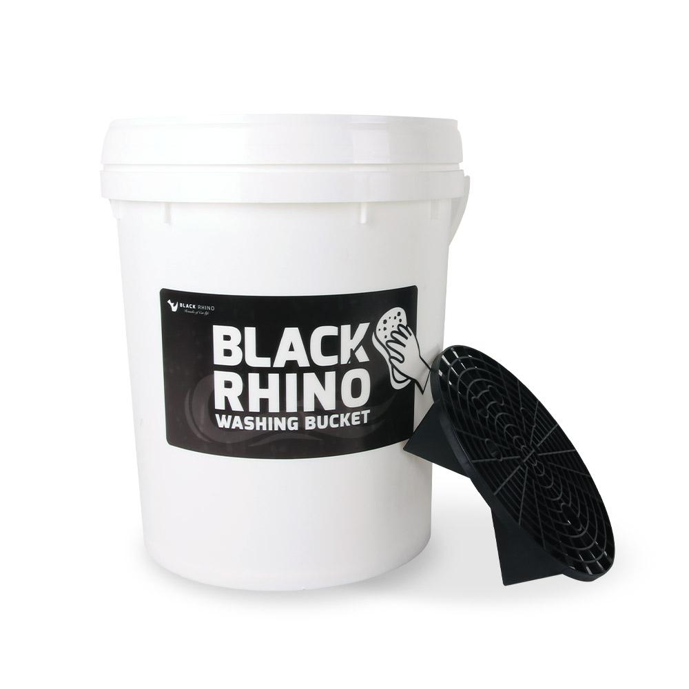 블랙라이노 셀프 세차버킷 + 뚜껑 + 그릿가드 세트, 20L, 혼합 색상