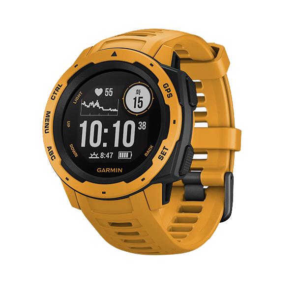 가민 인스팅트 GPS 스마트워치 한글판, 단일 상품, 머스타드 옐로우