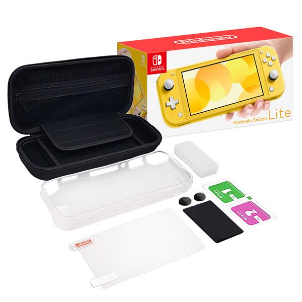 닌텐도 스위치 라이트 본체 옐로우 + 액세서리 6종 스타터킷, 단일 상품
