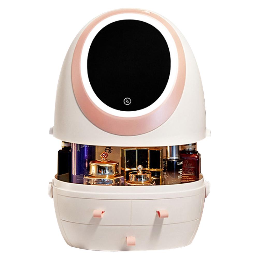 21세기트랜드 LED 블링 화장품 수납함 핑크, 1개