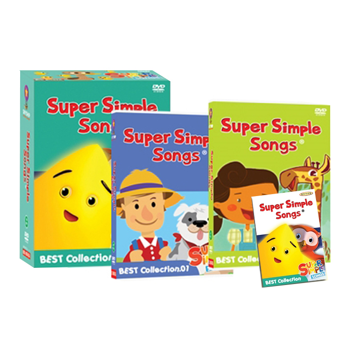 NEW Super Simple Songs 베스트 Collection DVD + 오디오CD 16종세트 가사집포함, 16CD