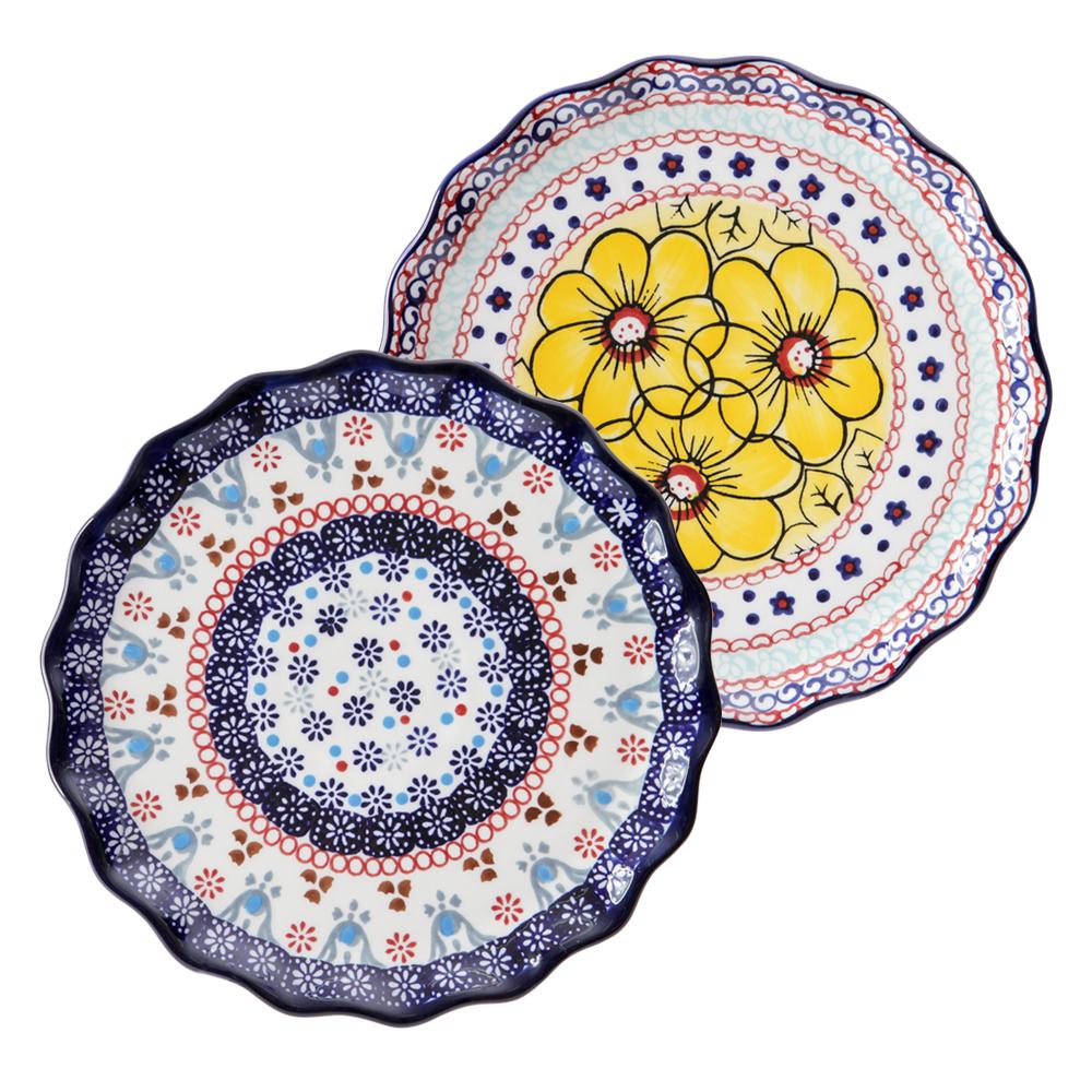 메종오브제 프라카 프릴 원형접시 중 2종세트, 1세트, 중접시 2p