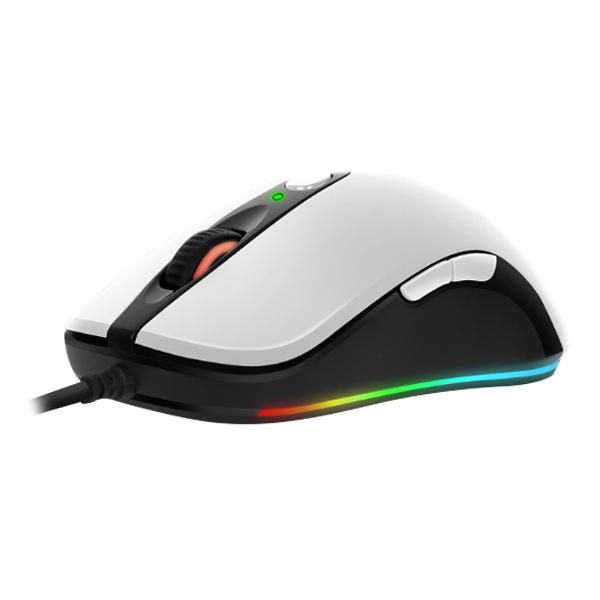 앱코 HACKER A530 3389 RGB 게이밍 마우스 A530S89, 화이트