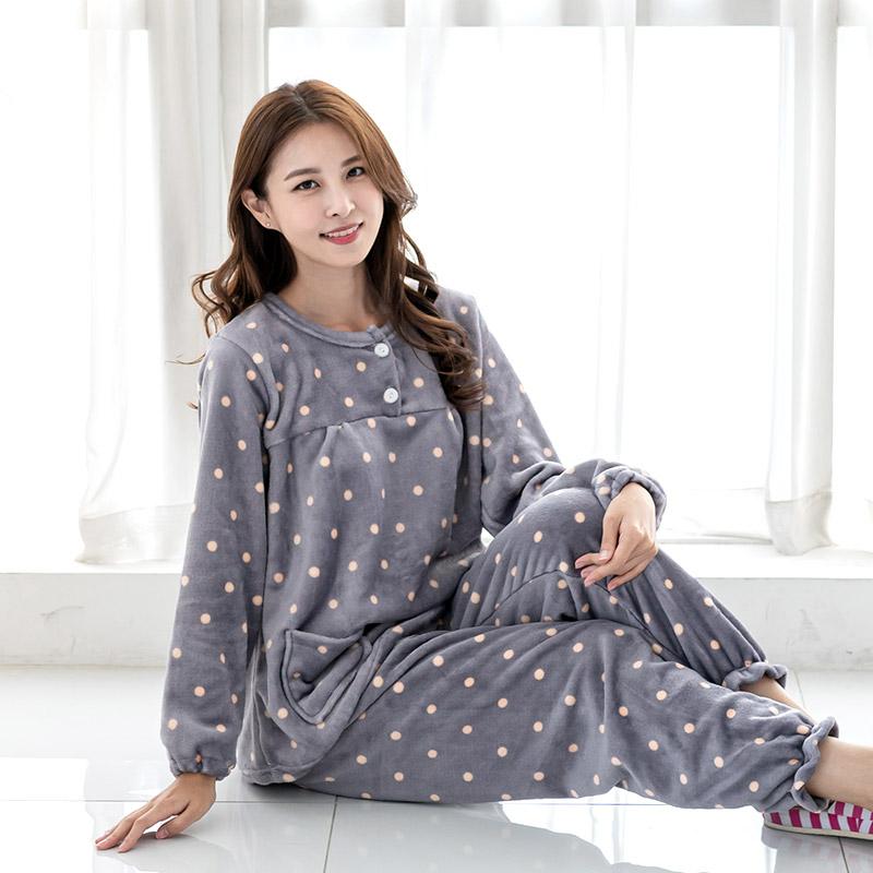 민트코코아 여성용 피치스노우 인조밍크 수면잠옷 상하의 세트