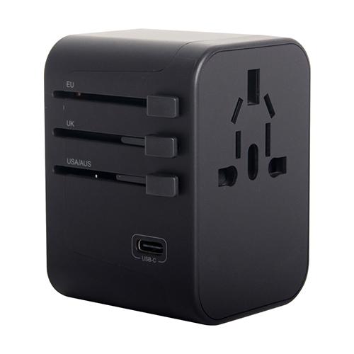 넥스원 해외여행 5포트 USB 5.6A 고속충전 멀티플러그 어댑터 블랙, 1개