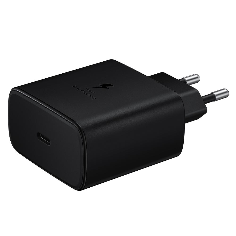 삼성전자 45W 고속 여행용 충전기 + C to C 케이블, 블랙, 1개