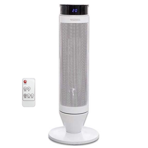 엔뚜마노 PTC 타워형 사무실 가정용 온풍기 + 리모컨, EP-S500, 화이트