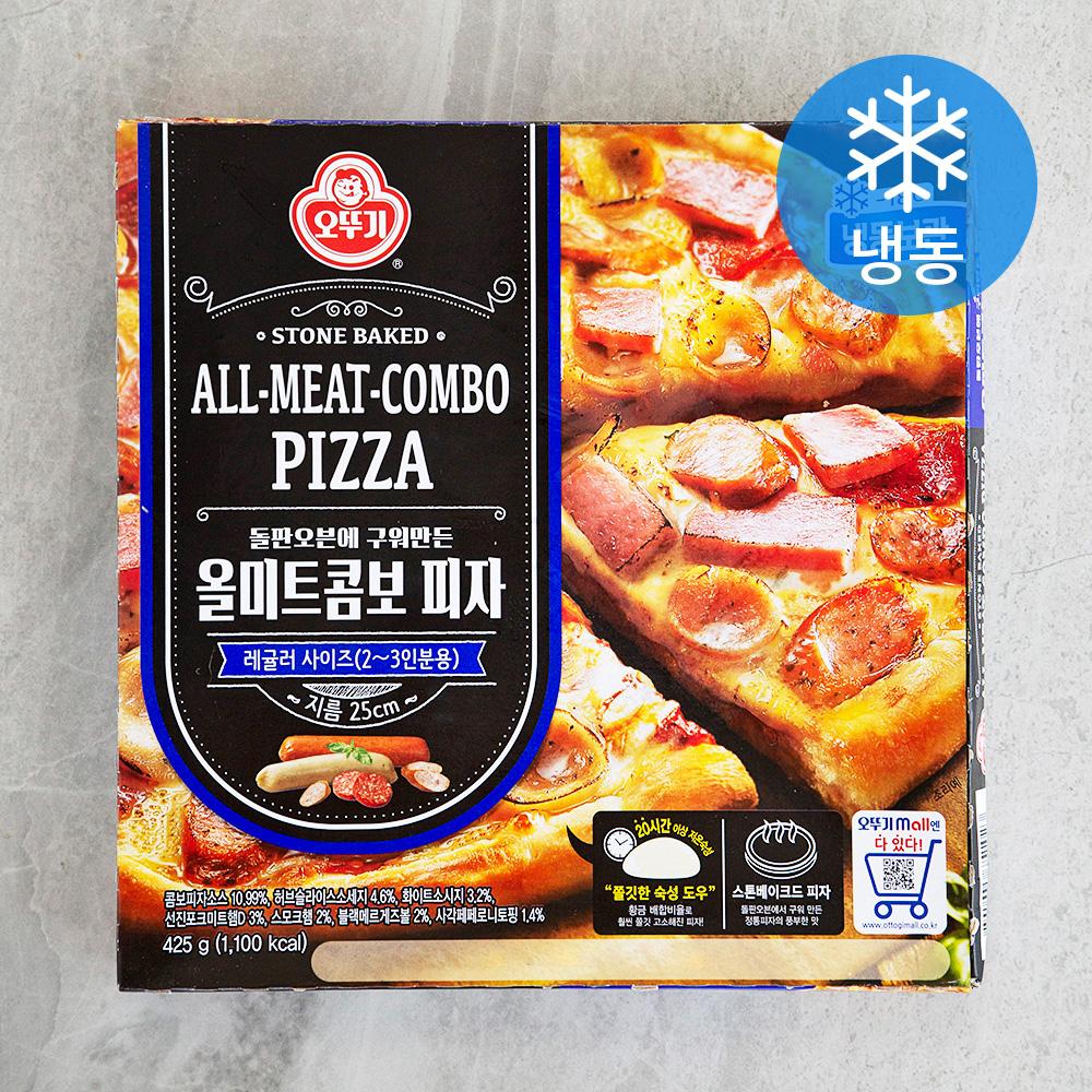 오뚜기 올미트콤보 피자 (냉동), 425g, 1개