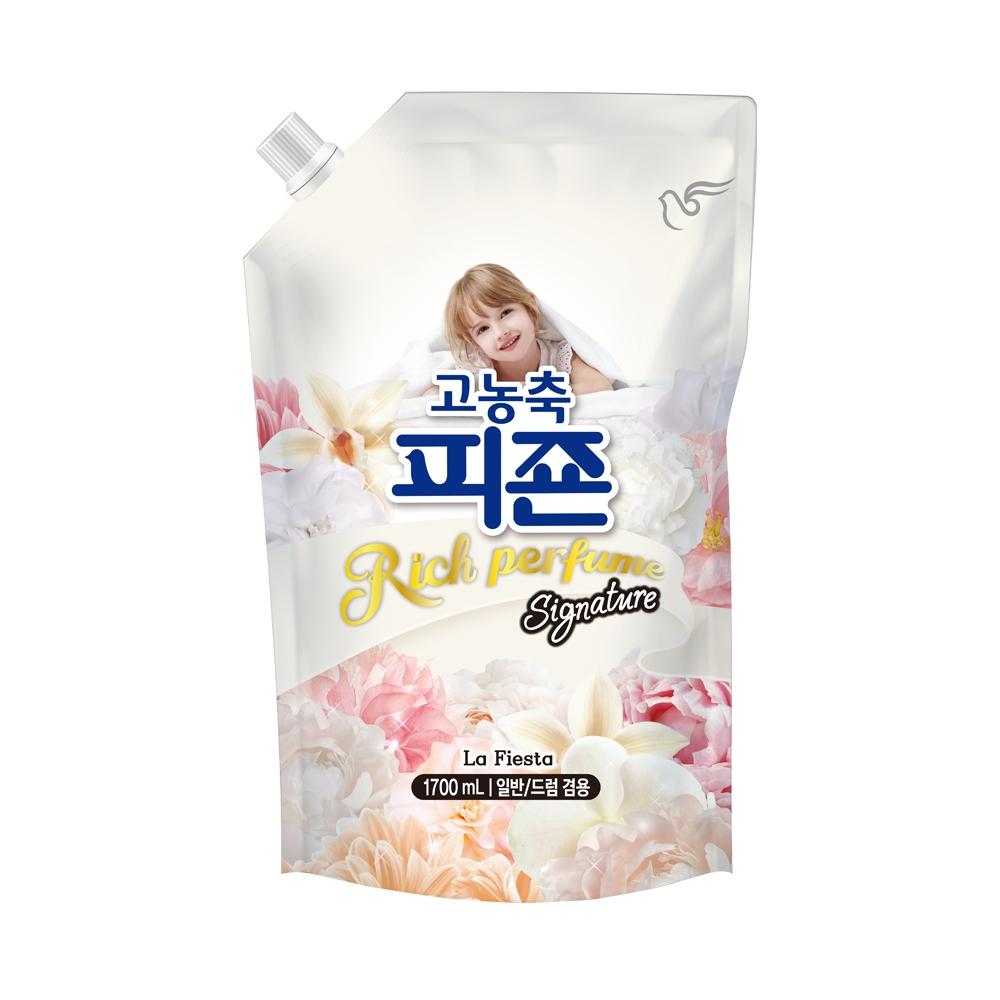 피죤 고농축 리치퍼퓸 시그니처 섬유유연제 라피에스타 리필, 1.7L, 1개