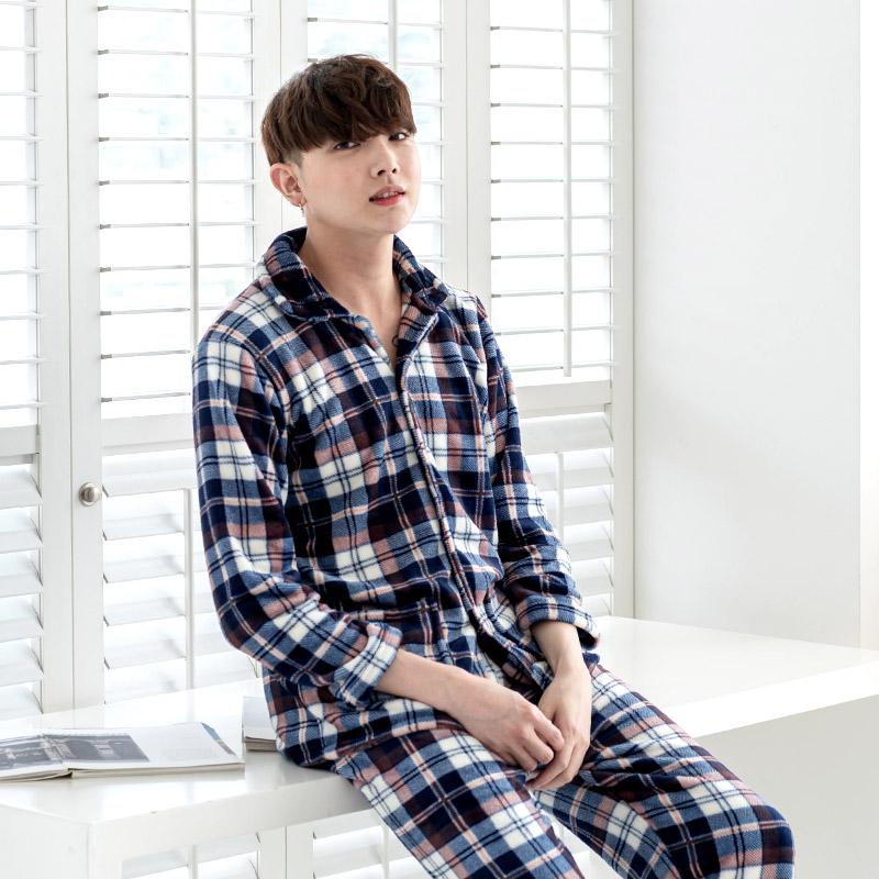 민트코코아 남성용 마이버터체크 수면잠옷 세트