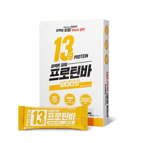 칼로바이 퍼펙트파워 프로틴바 단백질바 바나나맛, 50g, 10개