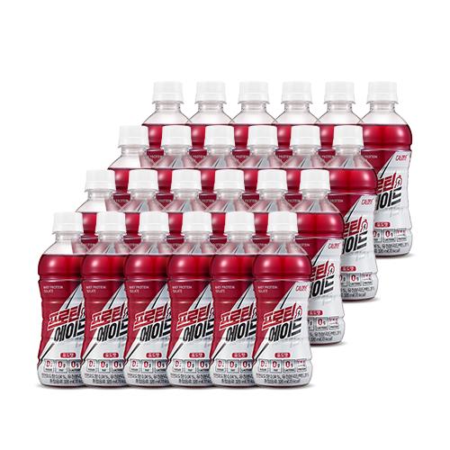 칼로바이 프로틴에이드 유청단백질 WPI 헬스보충제 음료 포도맛, 320ml, 24개
