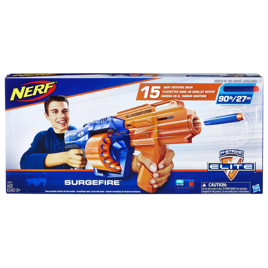너프 엘리트 써지파이어 장난감총, 혼합 색상