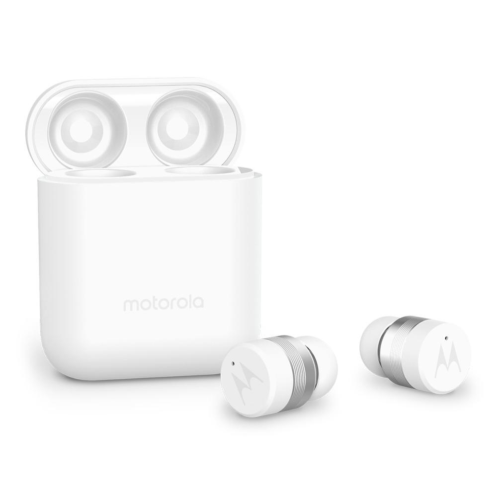 모토로라 버브버즈 110 완전 무선 블루투스 이어폰, SH039, WHITE