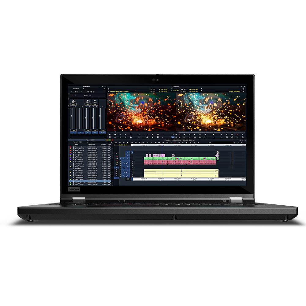 레노버 씽크패드 모바일웍 노트북 P53-2N00 20QNS02N00(i9-9880H 39.6cm WIN10 Pro RAM 16GB SSD 512GB Quadro RTX4000 8GB), P53-2N00 20QNS02N00, Black