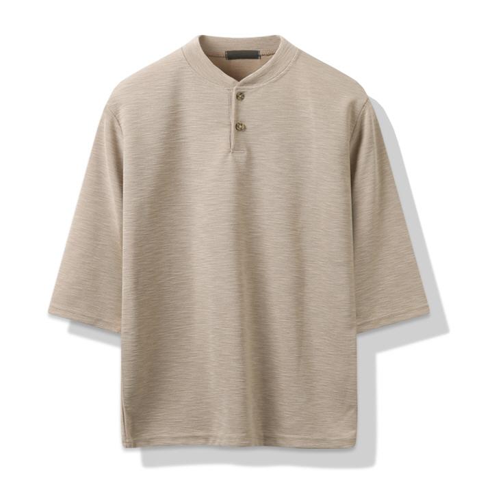 해리슨 남성용 카인 헨리넥 7부 티셔츠 CS1287