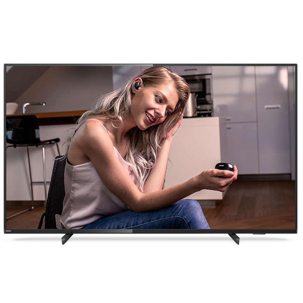필립스 4K UHD 139.7cm 스마트 TV 55PUN6784, 스탠드형, 방문설치