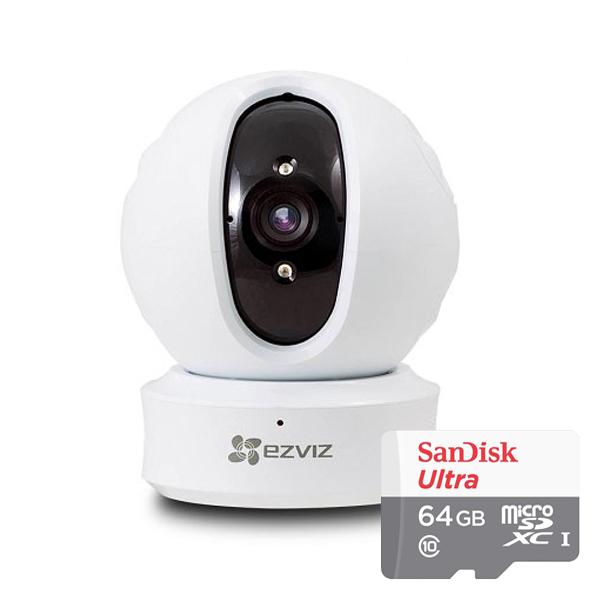 이지비즈 C6C 네트워크 WIFI 카메라 + SD메모리 카드 64GB 세트, CS-CV246