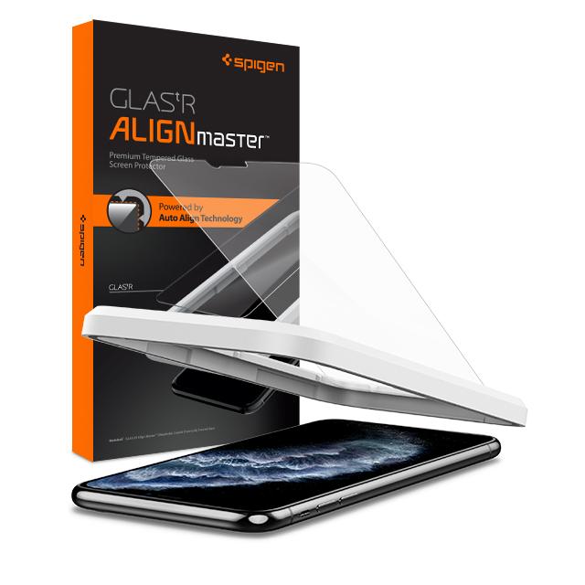 슈피겐 강화유리 글라스 tr 슬림 얼라인마스터 휴대폰 액정보호필름 AGL00097, 1세트
