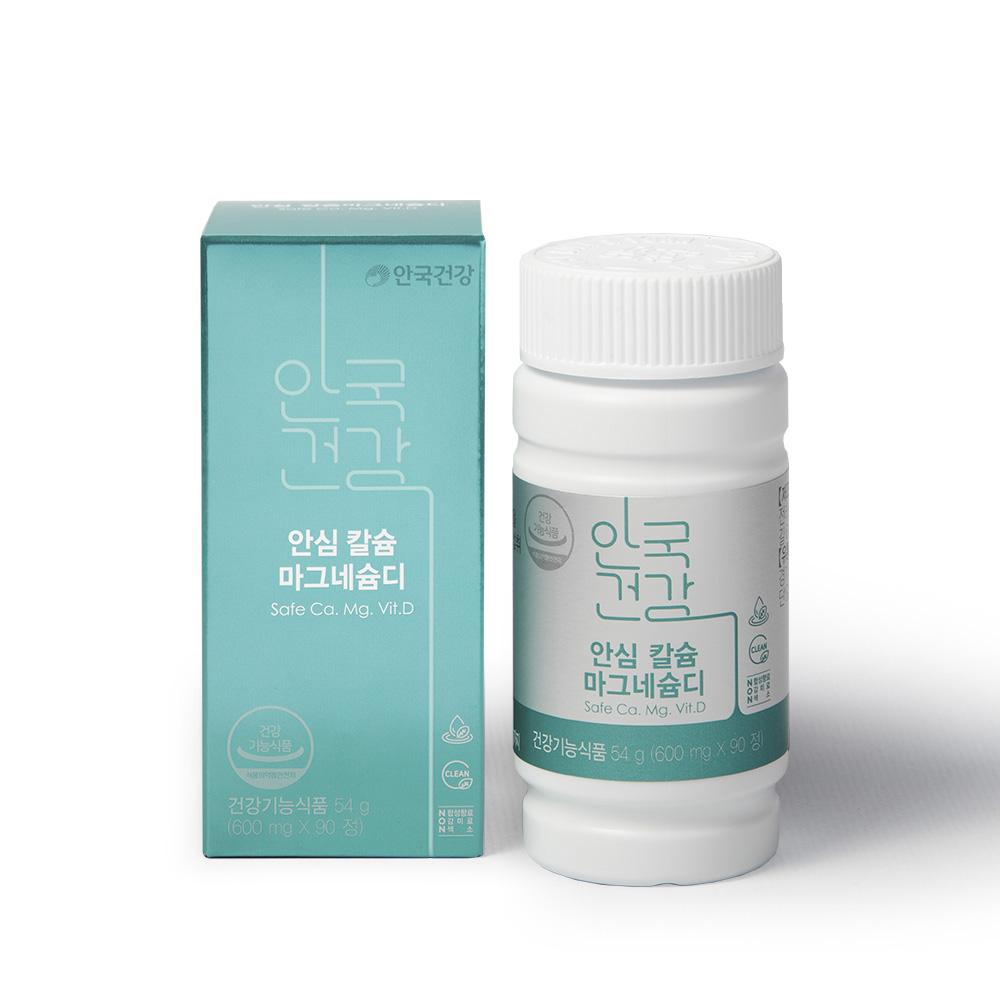 안국건강 안심칼슘마그네슘디 영양제, 90정, 1개